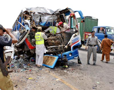 July, 13: An accident between two passenger buses near Hyderabad Toll Plaza, At least 4 people died and 25 others were injured