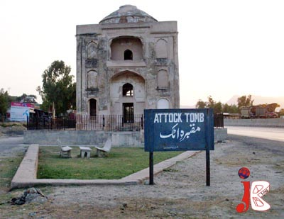 August 11: A view of Attock Tomb, where renovation and repair work has been stopped by the authorities due to unknown reason