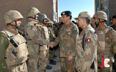 October 25: Chief of Army Staff, General Ashfaq Parvez Kayani meeting with troops during his visit to South Waziristan Agency.