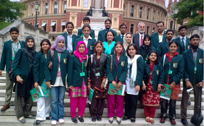 July, 17: A group Picture of Pakistani Position Holder students at Imperial College London, students touring UK on the directions of Chief Minister Punjab