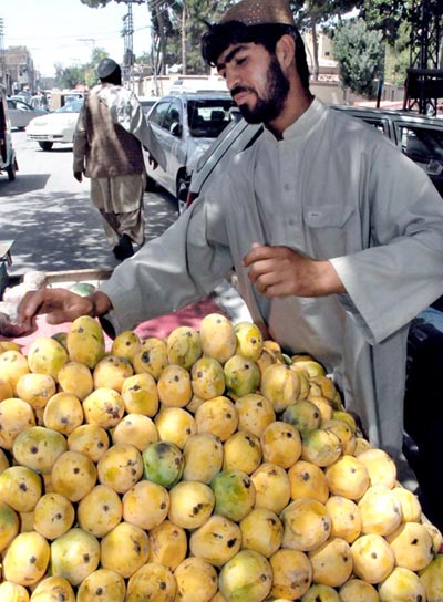 July, 01: Sale of mangoes goes up and up but out of reach from the poor families of Pakistan