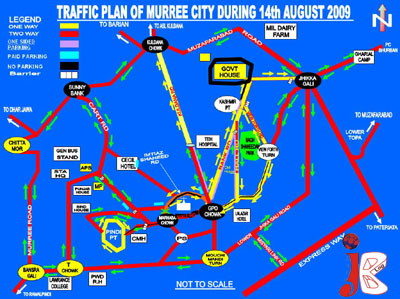 August 12: City Traffic Police Rawalpindi announced a traffic plan for visitors who visit Muree on 14 August