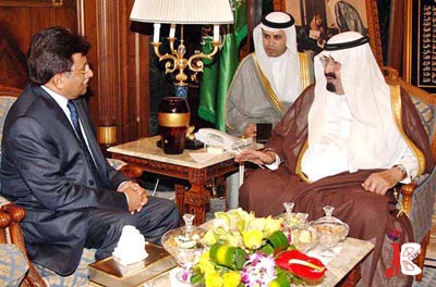 September 03: Former President Pervez Musharraf called on the custodian of the two holy mosques King Abdullah Bin Abdul Aziz Al Saud, in Jeddah