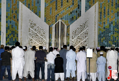 August 22: Muslims offer Nimaz-e-Taraveeh at Faisal Mosque in Islamabad. Muslims around the world observe fasting and perform their religious duties with zeal and fervor in the month of Ramadan