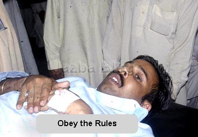 June, 13:Policeman shot this man after he did not stop at at Faizabad Check post.