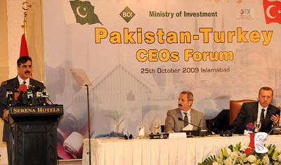 October 25:  Prime Minister Syed Yousaf Raza Gilani speaks at Pakistan – Turkey CEOS Forum in Islamabad