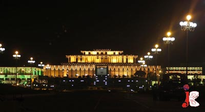 August 14: A beautifully illuminated view of President House, decorated with lights in connection to 63rd Independence Day of Pakistan.