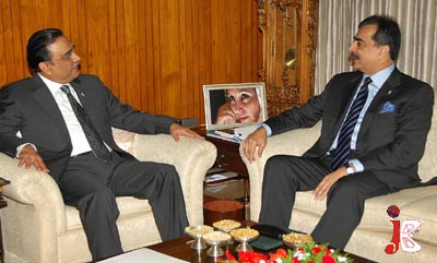 October 22: Prime Minister Syed Yousaf Raza Gilani called on President Asif Ali Zardari at President House.