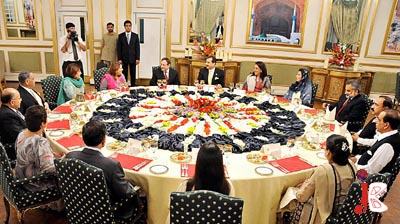 September 18: Prime Minister Syed Yousuf Raza Gilani hosted an Iftar dinner in honour of Services Chiefs at Prime Minister's House