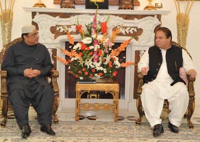 July, 17: President Asif Ali Zardari having a meeting with PML(N) Chief Mian Muhammad Nawaz Shareef