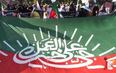 September 18: Activists of Imamia Students Organization take part in a rally on the eve of Youm-ul-Quds, at Aabpara Chowk
