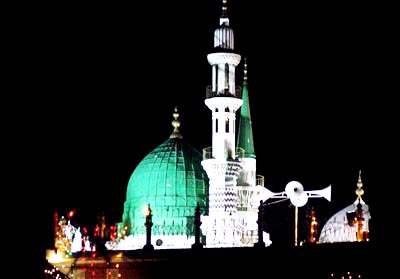 July, 20: An illuminated view of Mosque on the eve of Shab-e-Meraj