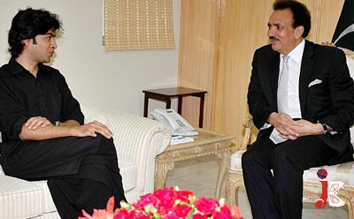 September 07:Renowned Singer and President Zindagi Trust Shahzad Roy called on Federal Minister for Interior Senator A Rehman Malik at Ministry of Interior