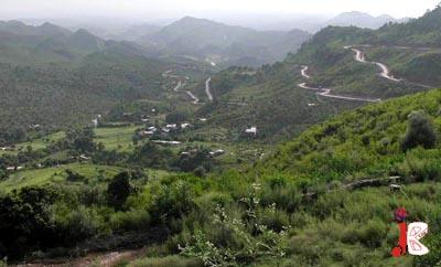 August 20 : A lush green view of the hills near Simli Dam, just a few kilometers from Barakahu
