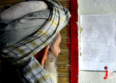 September 06: A Pakistani man reads a pamphlet, spread through the border town of Chaman . The urdu-language pamphlets, distributed in Afghanistan's and pakistan border area, also urged local people to join a 'jihad' or holy war against the US and NATO forces